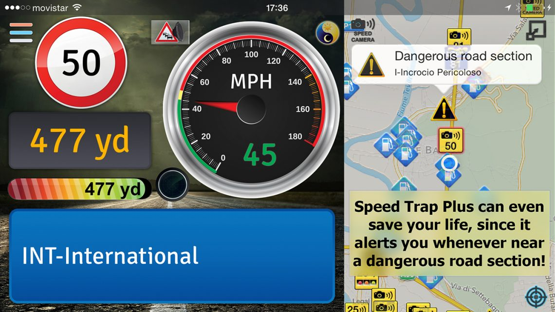 Speed Trap Plus can even save your life, since it alerts you whenever near a dangerous section