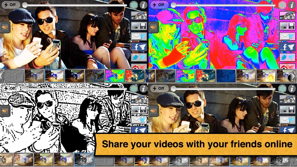 Share your videos with your friends online