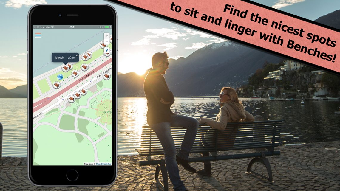 Find the nicest spots to sit and linger with Toilets Finder!
