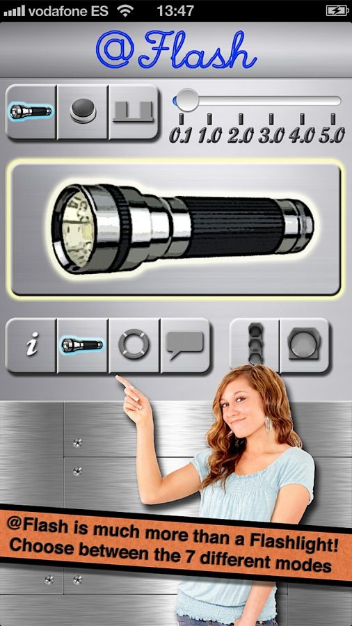@Flash is much more than a flashlight! Choose between the 7 different modes