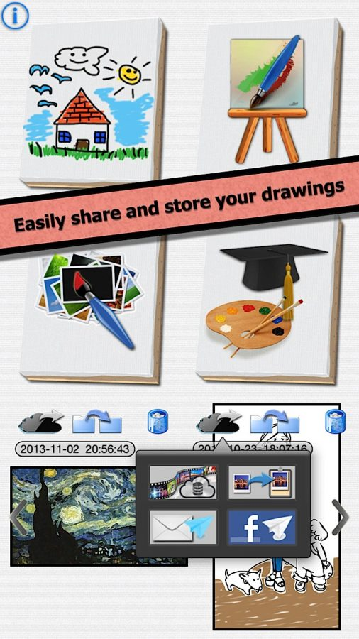 Easily share and store your drawings