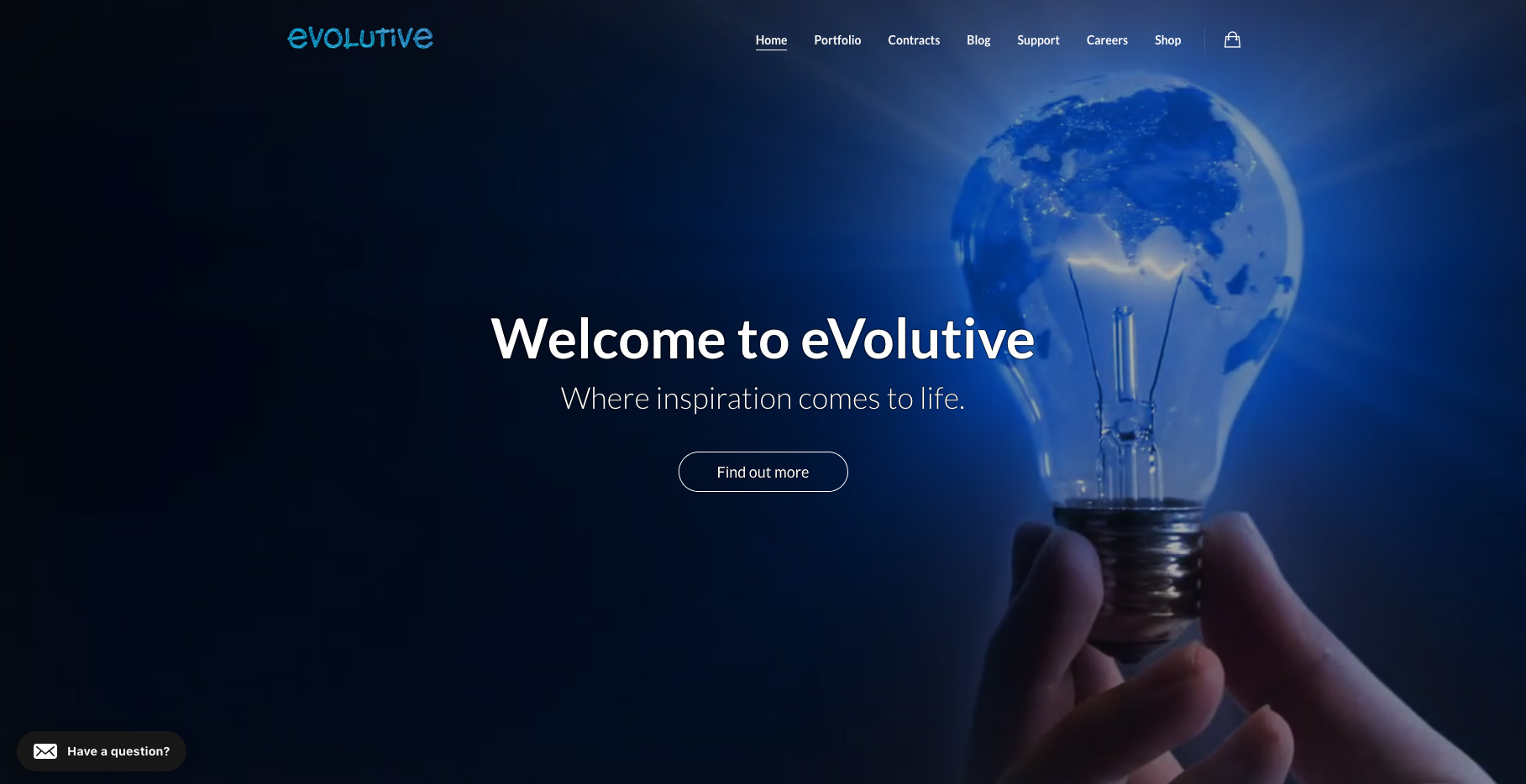 Renewed website for eVolutive - Apps and websites development - Contracts